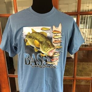 Bass Sportsman Fishing T Shirt New With Tags